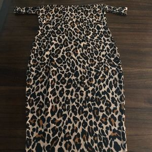 Leopard Off shoulder casual/party dress